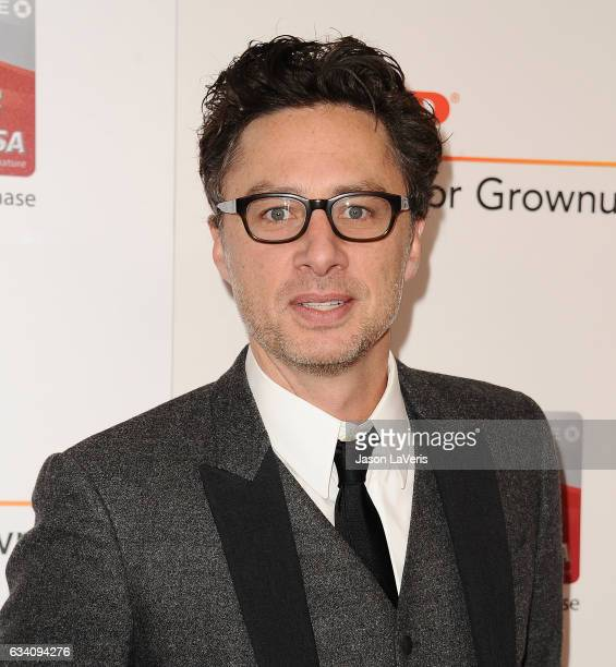 Actor Zach Braff attends AARP's 16th annual Movies For Grownups Awards at the Beverly Wilshire Four Seasons Hotel on February 6 2017 in Beverly Hills...