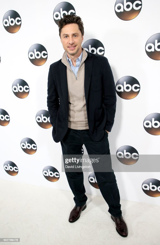 Actor Zach Braff attends Disney ABC Television Group's TCA Winter Press Tour 2018 at The Langham Huntington, Pasadena on January 8, 2018 in Pasadena, California.
