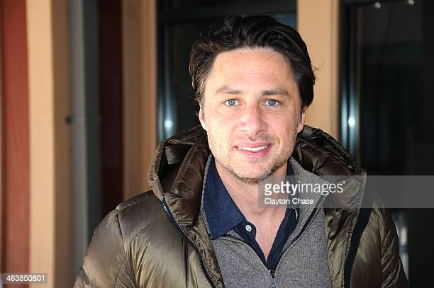Actor Zach Braff attends The 10th Anniversary LG Music Lodge At Sundance With Elio Motors And Tervis on January 19 2014 in Park City Utah