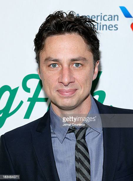 Actor Zach Braff attends the Broadway opening night of Big Fish at Neil Simon Theatre on October 6 2013 in New York City