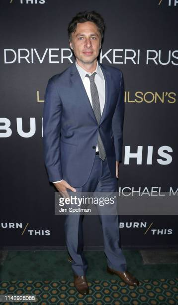 Actor Zach Braff attends the Burn This opening night at Hudson Theatre on April 15 2019 in New York City