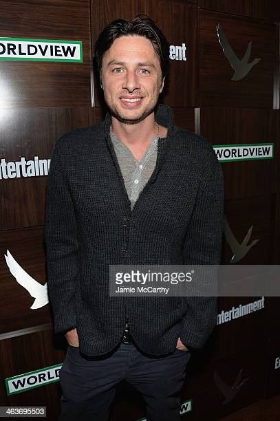 Actor Zach Braff attends the GREY GOOSE Blue Door Hosts 'Wish I Was Here' Dinner on January 18 2014 in Park City Utah