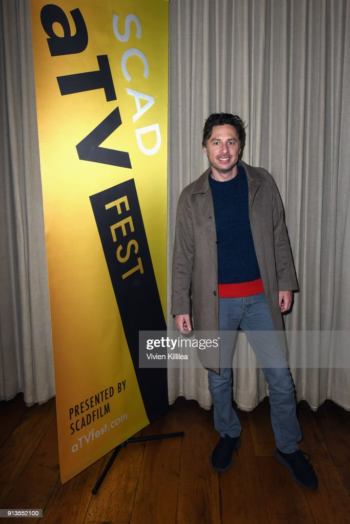 Actor Zach Braff attends the SCAD aTVfest 2018 x EW Party at Lure on February 2, 2018 in Atlanta, Georgia.