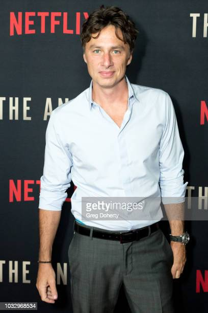 """Actor Zach Braff attends the Screening Of Netflix's """"The Angel"""" at TCL Chinese 6 Theatres on September 13, 2018 in Hollywood, California."""