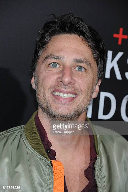 Actor Zach Braff attends the screening of Summit Entertainment's Hacksaw Ridge held at the Samuel Goldwyn Theater on October 24 2016 in Beverly Hills...