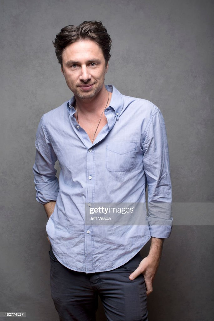 Actor Zach Braff is photographed at the Sundance Film Festival 2014 for Self Assignment on January 25, 2014 in Park City, Utah.