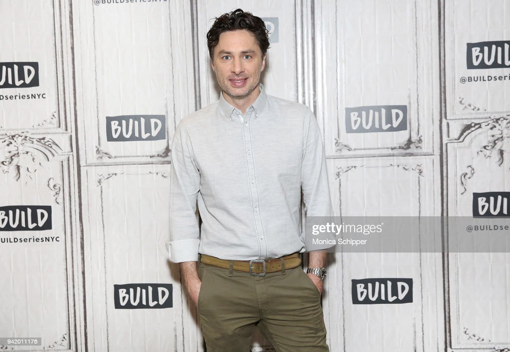 Actor Zach Braff visits Build Studio on April 4, 2018 in New York City.