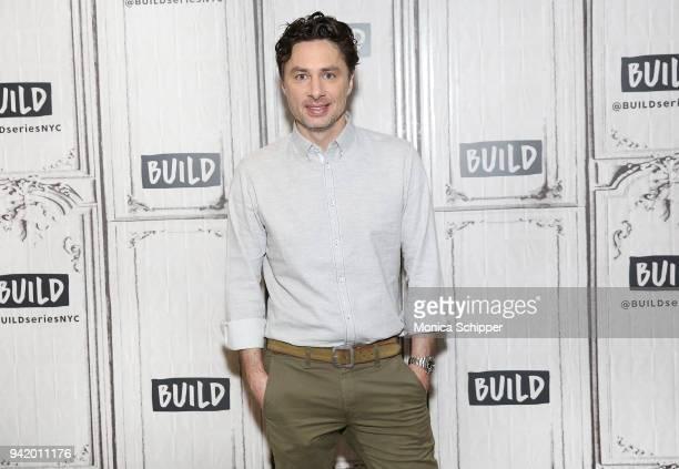 Actor Zach Braff visits Build Studio on April 4, 2018 in New York City.