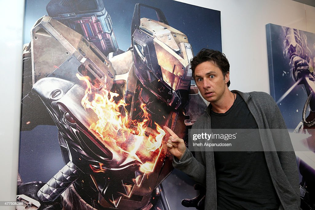Zach Braff And Other Celebrities Visits Destiny Booth At E3 2015 In Los Angeles
