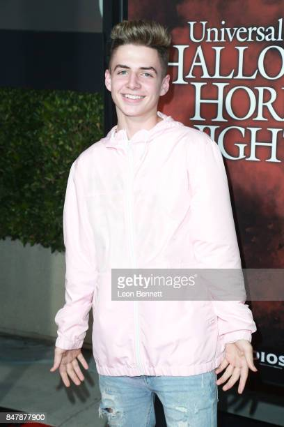 Actor Zach Clayton attends Universal Studios Halloween Horror Nights Opening Night Arrivals at Universal Studios Hollywood on September 15 2017 in...