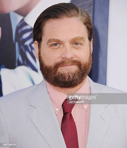 """Actor Zach Galifianakis arrives at the Los Angeles Premiere """"The Campaign"""" at Grauman's Chinese Theatre on August 2, 2012 in Hollywood, California."""