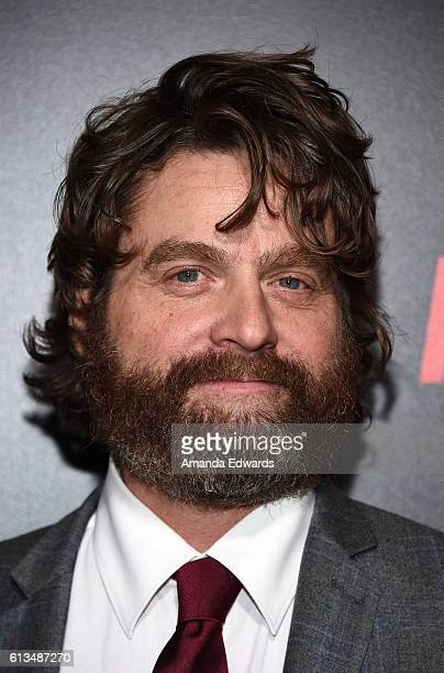 Actor Zach Galifianakis arrives at the premiere of 20th Century Fox's 'Keeping Up With The Joneses' at Fox Studios on October 8 2016 in Los Angeles...