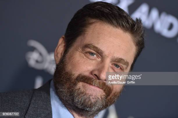 Actor Zach Galifianakis arrives at the premiere of Disney's 'A Wrinkle In Time' at El Capitan Theatre on February 26 2018 in Los Angeles California