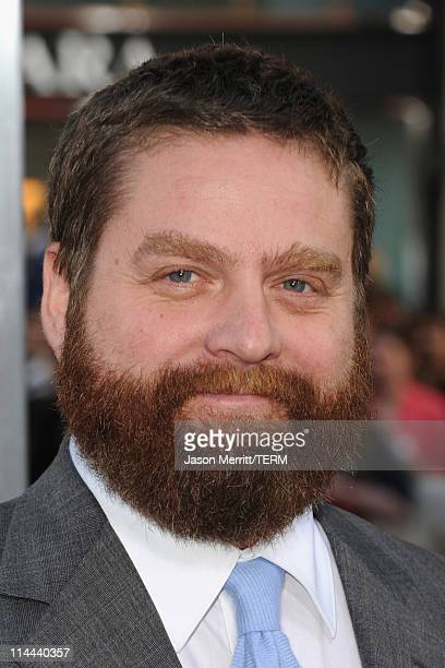 Actor Zach Galifianakis arrives at the premiere of Warner Bros The Hangover Part II at Grauman's Chinese Theatre on May 19 2011 in Hollywood...