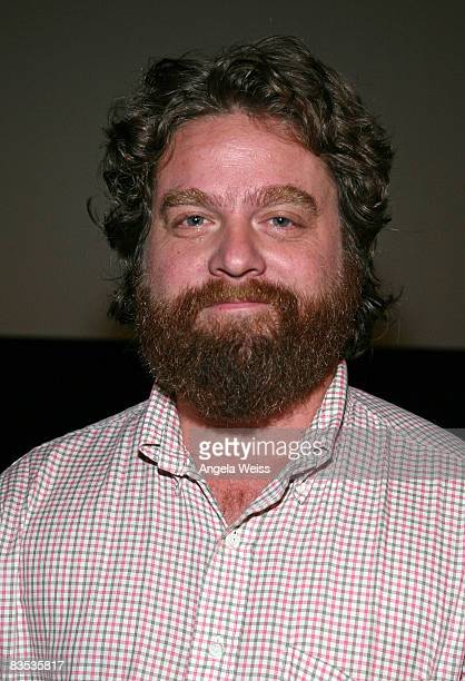 Actor Zach Galifianakis attends the 2008 AFI Fest special screening of 'Visioneers' held at Arclight Hollywood on November 1 2008 in Hollywood...