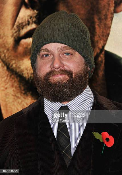 Actor Zach Galifianakis attends the European Premiere of Due Date at Empire Leicester Square on November 3 2010 in London England