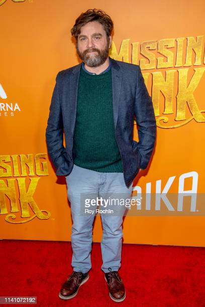 Actor Zach Galifianakis attends the Missing Link New York Premiere at Regal Cinema Battery Park on April 07 2019 in New York City
