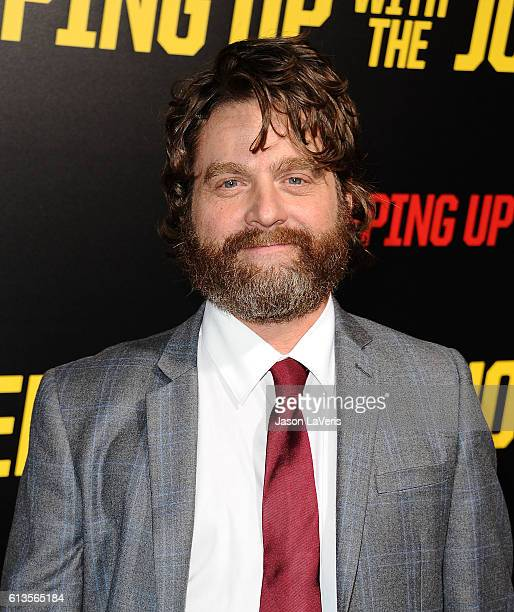 Actor Zach Galifianakis attends the premiere of 'Keeping Up with the Joneses' at Fox Studios on October 8 2016 in Los Angeles California