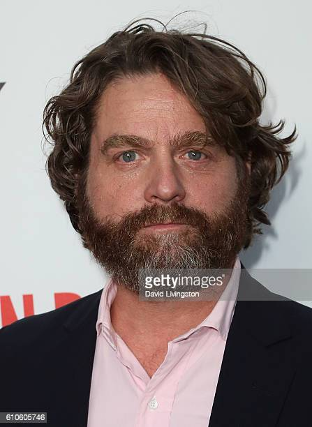Actor Zach Galifianakis attends the premiere of Relativity Media's 'Masterminds' at TCL Chinese Theatre on September 26 2016 in Hollywood California