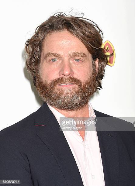 Actor Zach Galifianakis attends the premiere of Relativity Media's 'Masterminds' held at TCL Chinese Theatre on September 26 2016 in Hollywood...