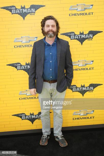 Actor Zach Galifianakis attends the Premiere of Warner Bros Pictures' The LEGO Batman Movie at the Regency Village Theatre on February 4 2017 in...