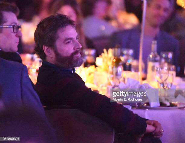 Actor Zach Galifianakis attends the Venice Family Clinic's 36th Annual Silver Circle Gal at The Beverly Hilton Hotel on March 19 2018 in Beverly...