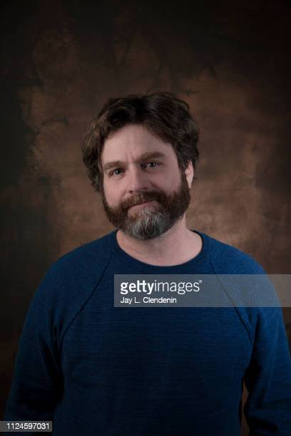 Actor Zach Galifianakis from 'The Sunlit Night' is photographed for Los Angeles Times on January 27 2019 at the 2019 Sundance Film Festival in Salt...
