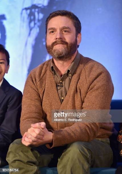Actor Zach Galifianakis participates in the press conference for Disney's 'A Wrinkle in Time' in Hollywood CA on March 25 2018