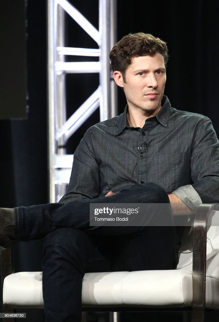 Actor Zach Gilford of the Sundance Now television show This Close participates in a panel discussion onstage during the AMC portion of the 2018 Winter Television Critics Association Press Tour on January 13, 2018 in Pasadena, California.