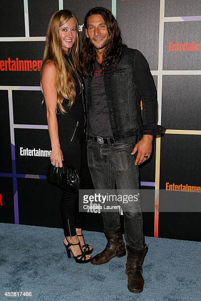 Actor Zach McGowan and wife Emily Johnson arrive at Entertainment Weekly's Annual Comic Con Celebration at Float at Hard Rock Hotel San Diego on July...