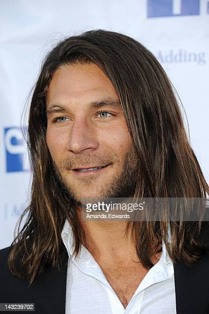 Actor Zach McGowan arrives at the Band From TV's 2nd Annual Block Party On Wisteria Lane at Universal Studios Backlot on April 21 2012 in Universal...