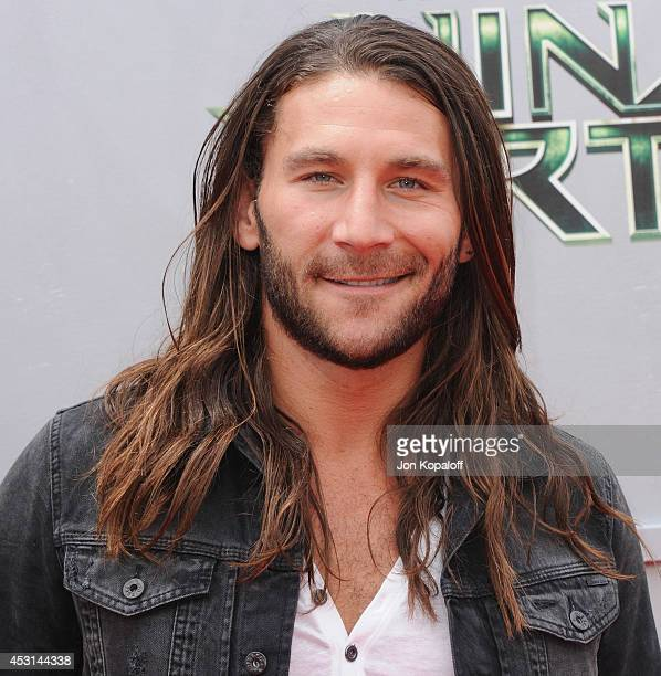 Actor Zach McGowan arrives at the Los Angeles Premiere Teenage Mutant Ninja Turtles at Regency Village Theatre on August 3 2014 in Westwood California