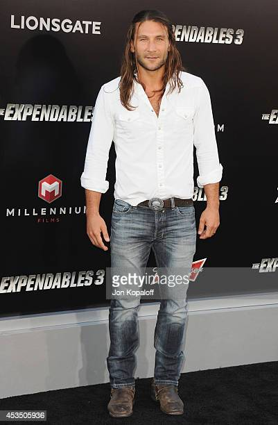 Actor Zach McGowan arrives at the Los Angeles Premiere 'The Expendables 3' at TCL Chinese Theatre on August 11 2014 in Hollywood California