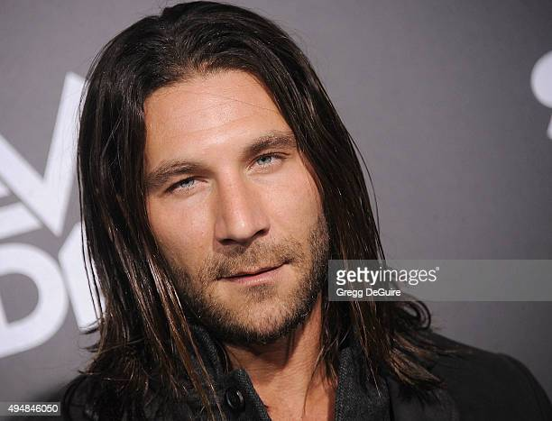 Actor Zach McGowan arrives at the premiere of STARZ's Ash Vs Evil Dead at TCL Chinese Theatre on October 28 2015 in Hollywood California