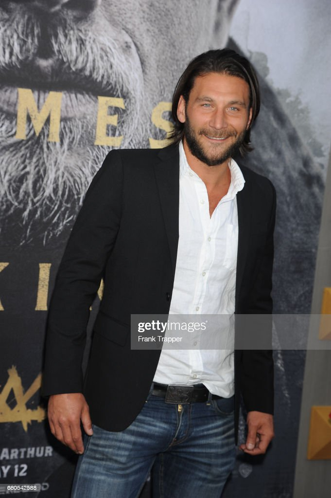 Actor Zach McGowan arrives at the premiere of Warner Bros. Pictures' 'King Arthur: Legend Of The Sword' at TCL Chinese Theatre on May 8, 2017 in Hollywood, California.
