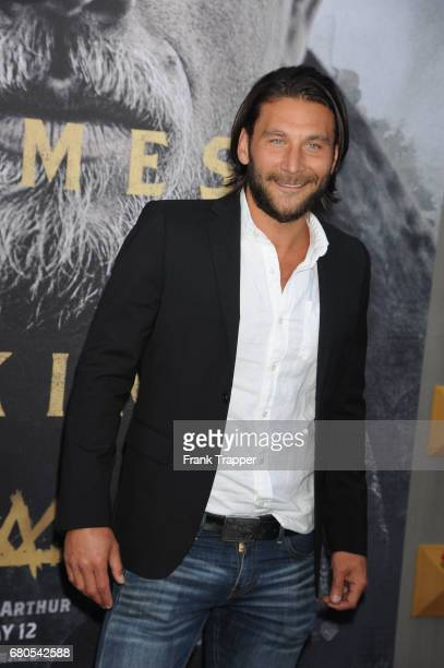 Actor Zach McGowan arrives at the premiere of Warner Bros Pictures' 'King Arthur Legend Of The Sword' at TCL Chinese Theatre on May 8 2017 in...