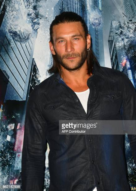 Actor Zach McGowan arrives for the World Premiere of the film 'Geostorm' in Hollywood California on October 16 2017 'Geostorm' opens in theaters on...