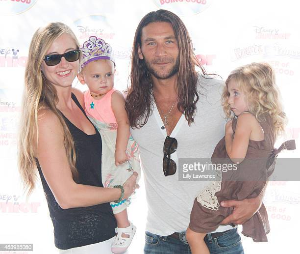 Actor Zach McGowan arrives with his family at Disney Junior's Pirate And Princess Power Of Doing Good Tour Arrives In Los Angeles At Brookside Park...