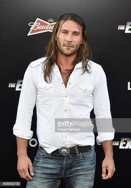 Actor Zach McGowan attends Lionsgate Films' The Expendables 3 premiere at TCL Chinese Theatre on August 11 2014 in Hollywood California