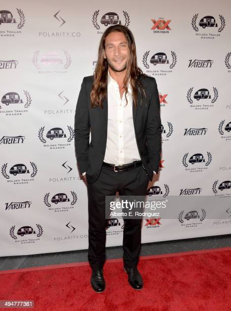 Actor Zach McGowan attends the 15th Annual Golden Trailer Awards at Saban Theatre on May 30 2014 in Beverly Hills California