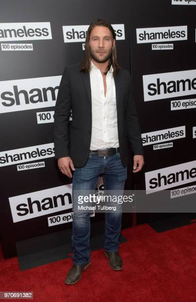 Actor Zach McGowan attends the celebration of the 100th episode of Showtime's Shameless at DREAM Hollywood on June 9 2018 in Hollywood California