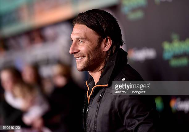 Actor Zach McGowan attends the Los Angeles premiere of Walt Disney Animation Studios' Zootopia on February 17 2016 in Hollywood California