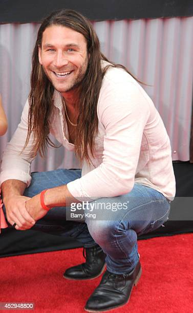 Actor Zach McGowan attends the premiere of 'Planes Fire Rescue' on July 15 2014 at the El Capitan Theatre in Hollywood California