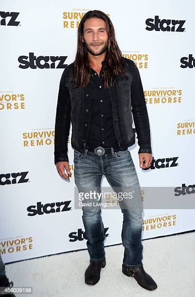 Actor Zach McGowan attends the premiere of Starz Survivor's Remorse at the Wallis Annenberg Center for the Performing Arts on September 23 2014 in...