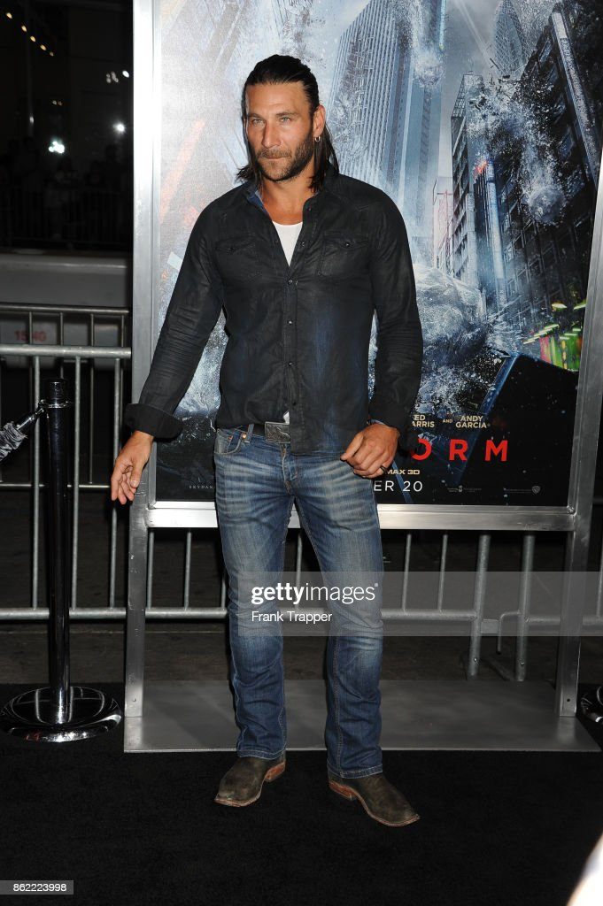 Actor Zach McGowan attends the premiere of Warner Bros. Pictures' 'Geostorm' on October 16, 2017 at the TCL Chinese Theater in Hollywood, California.