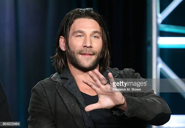Actor Zach McGowan speaks onstage during the Black Sails panel as part of the Starz portion of This is Cable 2016 Television Critics Association...