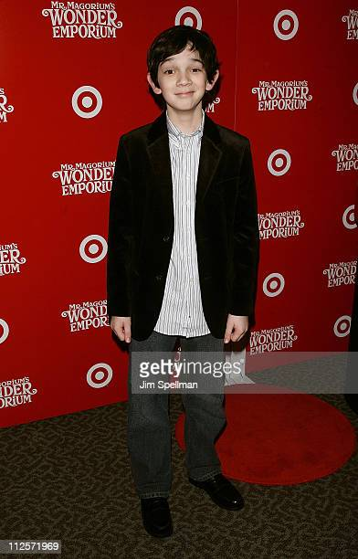 Actor Zach Mills arrives at the 'Mr Magorium's Wonder Emporium' Premiere at the DGA Theater on November 11 2007 in New York City