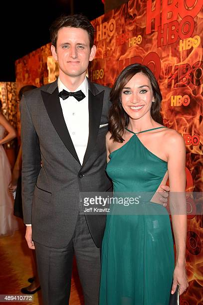 Actor Zach Woods and Jocelyn DeBoer attend HBO's Official 2015 Emmy After Party at The Plaza at the Pacific Design Center on September 20 2015 in Los...
