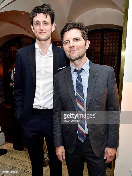 Actor Zach Woods and producer Adam Scott attend the after party for the premiere of Vertical Entertainment's 'Other People' on August 31 2016 in West...