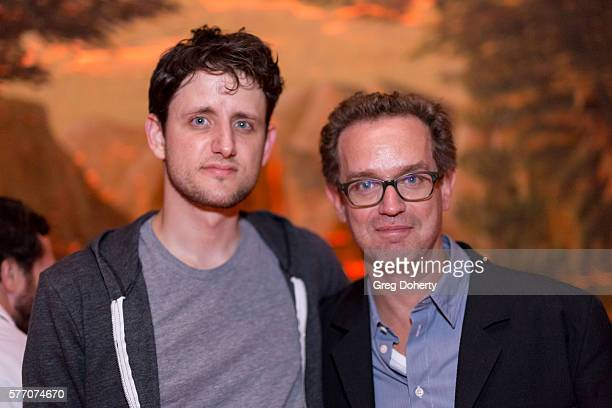 """Actor Zach Woods and Producer Sam Bisbee pose for a picture at the 2016 Outfest Los Angeles Closing Night Gala Of """"Other People"""" After Party at The..."""